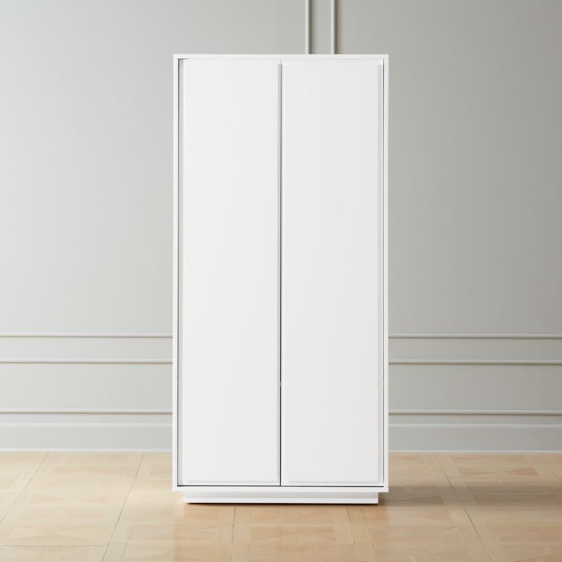 Gallery White 2 Door Wardrobe