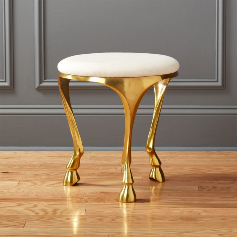 Foyer Chair Quotes : Gallop white and gold stool reviews cb