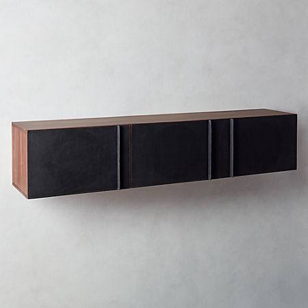 Leather Wall Mounted Storage Cabinet