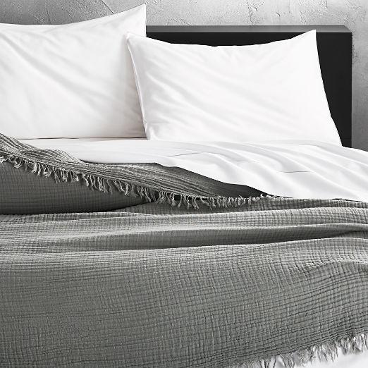 Gauze Grey Lightweight Blanket