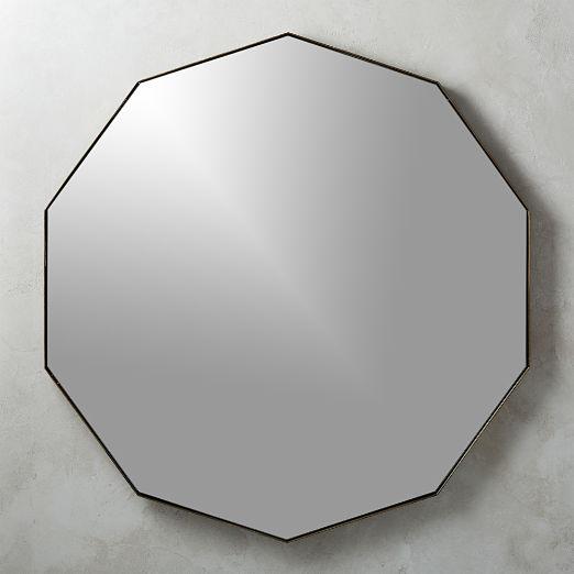 Geo Antiqued Brass Wall Mirror