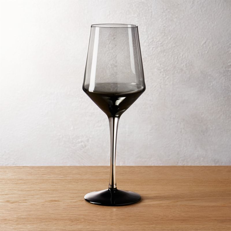 ghost smoke grey white wine glass