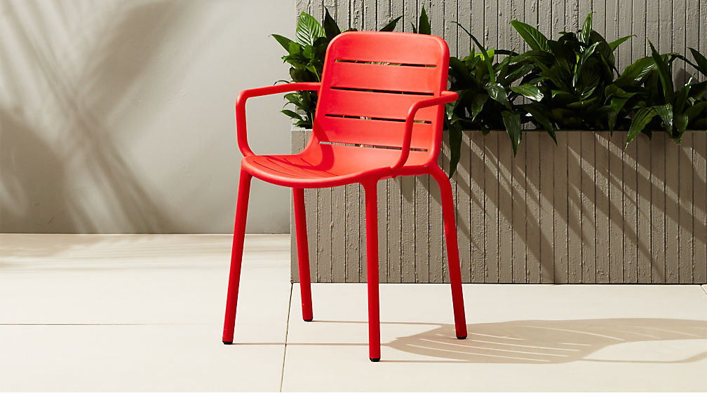 - Gina Outdoor Red Chair + Reviews CB2