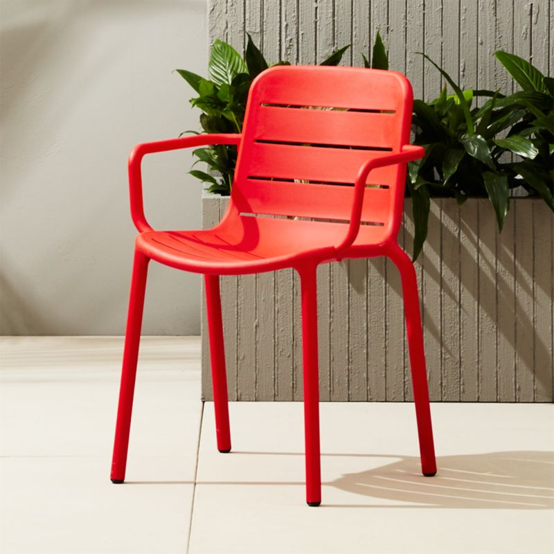 Gina Outdoor Red Chair + Reviews | CB2
