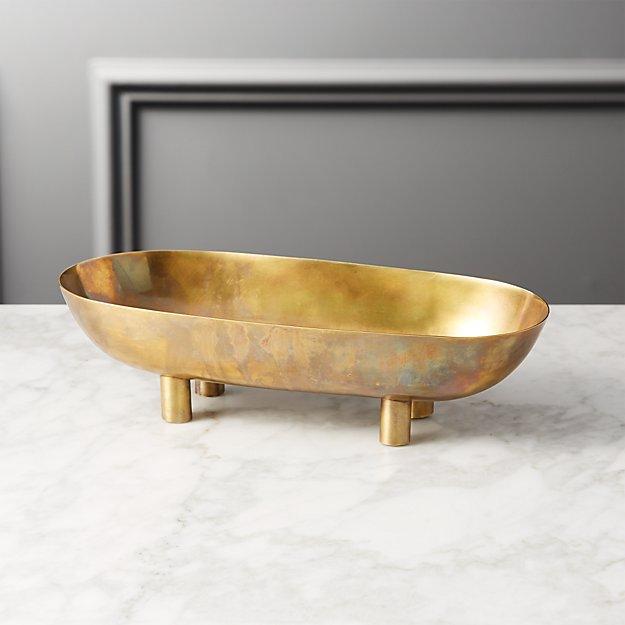 Gleam Brass Footed Bowl + Reviews | CB2