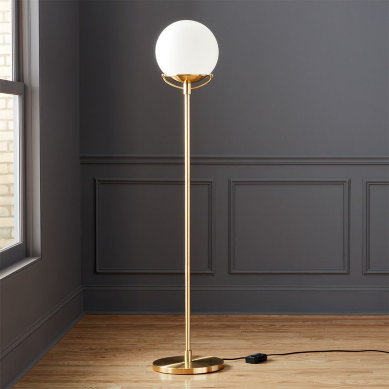 Octavia Floor Lamp Brass: Globe Brass Floor Lamp + Reviews