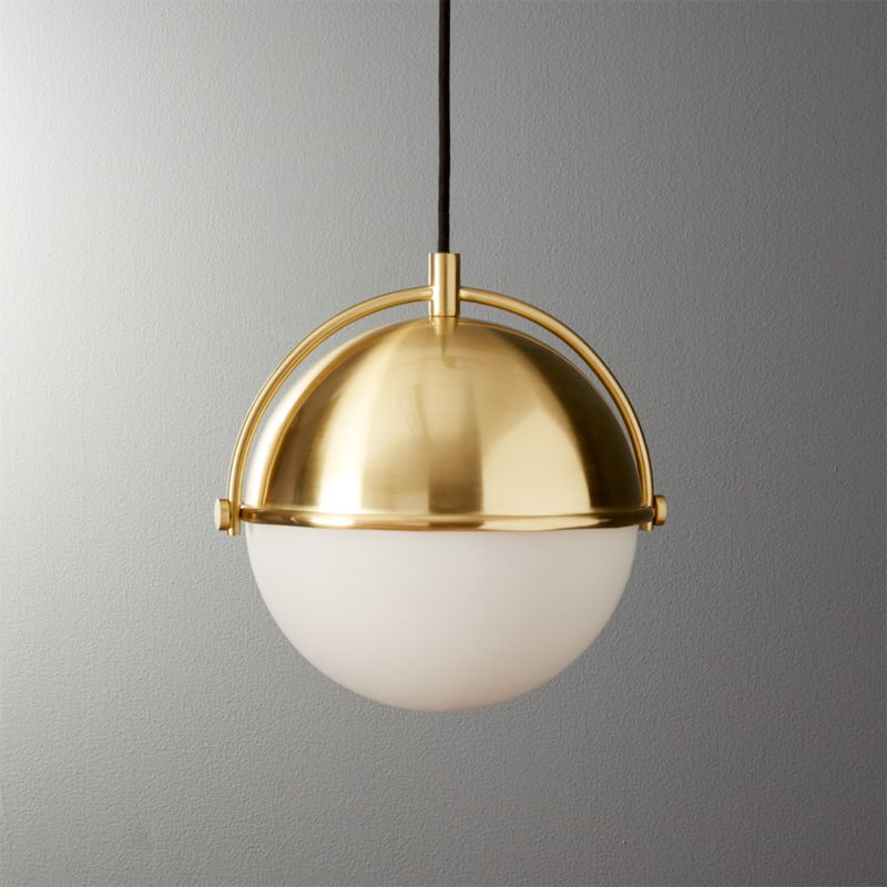 Globe Small Brass Pendant Light & gold pendant lights | CB2