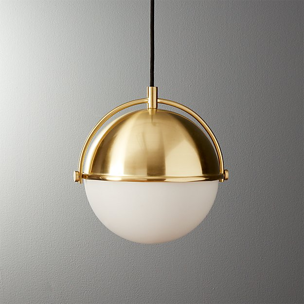 Globe Small Brass Pendant Light - Image 1 of 8