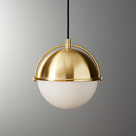 newest 1ab5c a15ad Globe Small Brass Pendant Light