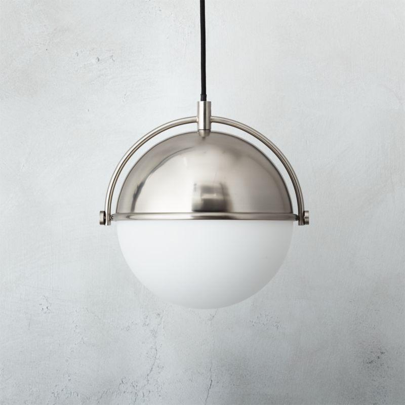 Globe Small Brushed Nickel Pendant Light + Reviews