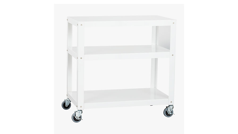 Go Cart White Kitchen Rolling Cart + Reviews | CB2