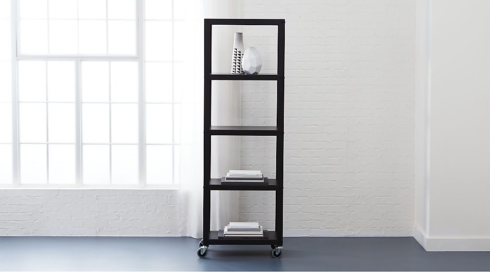 Completely new go-cart carbon five-shelf bookcase + Reviews | CB2 RU04
