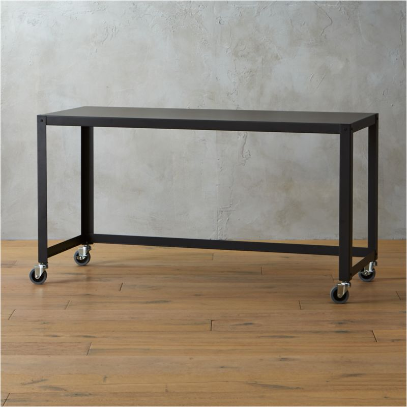 Go Cart Carbon Rolling Console Table
