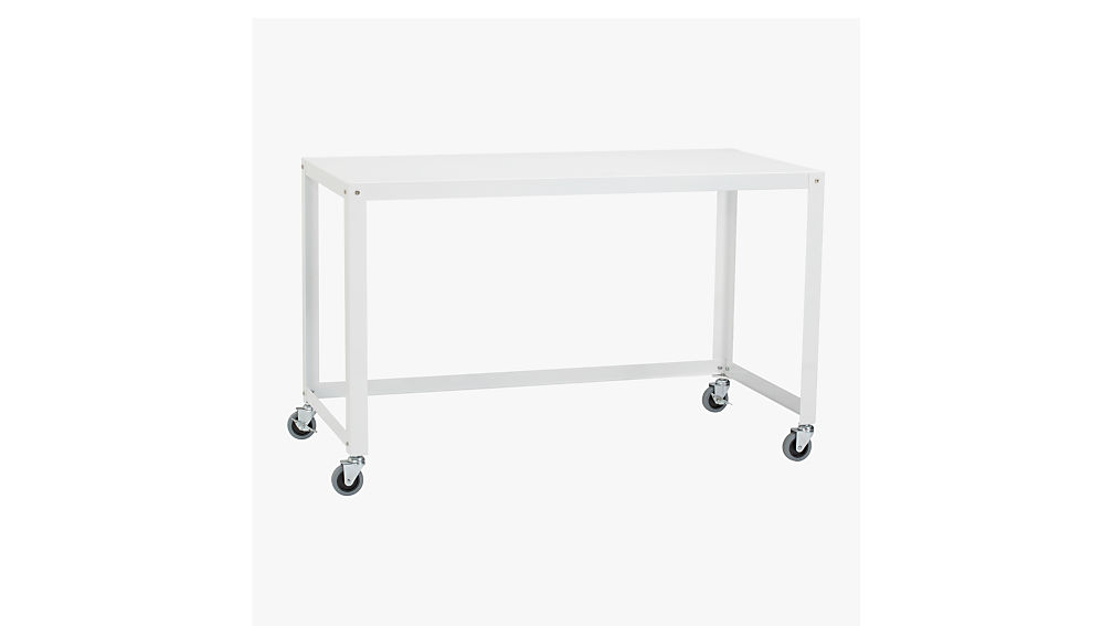 cheap desk metal with wheels for home on computer corner small