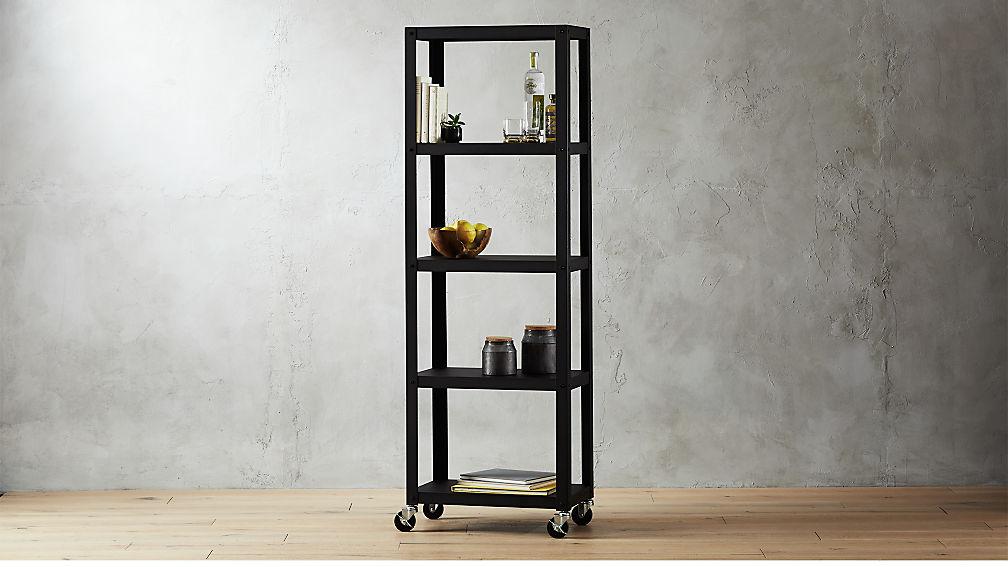 Go Cart Black Five Shelf Rolling Bookcase Reviews