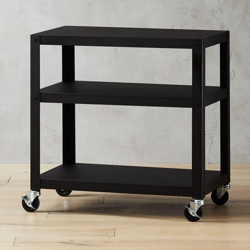 Go Cart Black 30 X18 Rolling