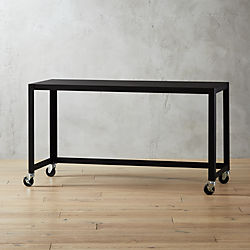 Go Cart Black Rolling Console Table