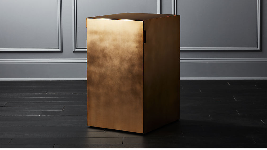 Gold File Cabinet Reviews Cb2