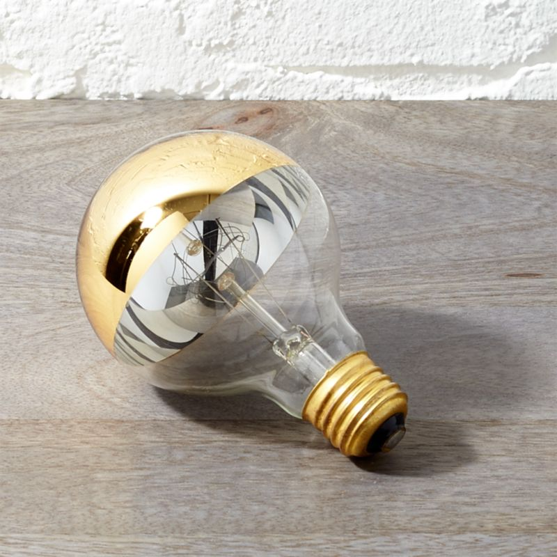 G25 Gold Tipped 60 W Light Bulb by Crate&Barrel
