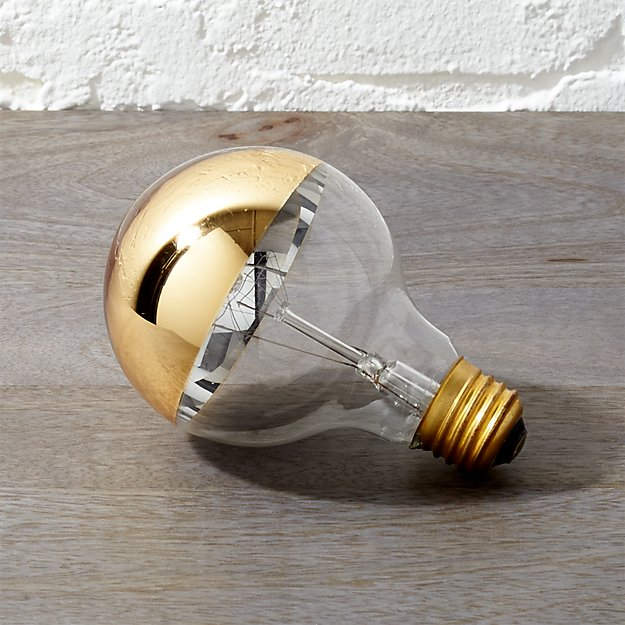 G25 Gold Tipped 40W Light Bulb - Image 1 of 6