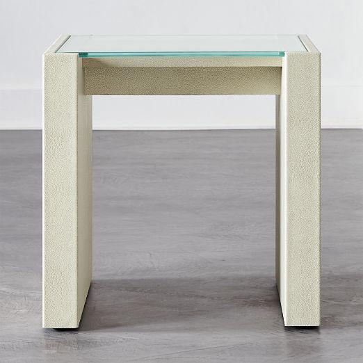 Grace Shagreen Side Table