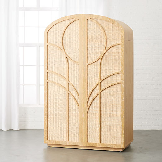 Gracia Cane and Wood Wardrobe