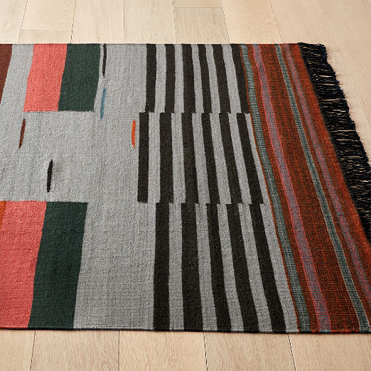 Gradient Grey Wool Rug