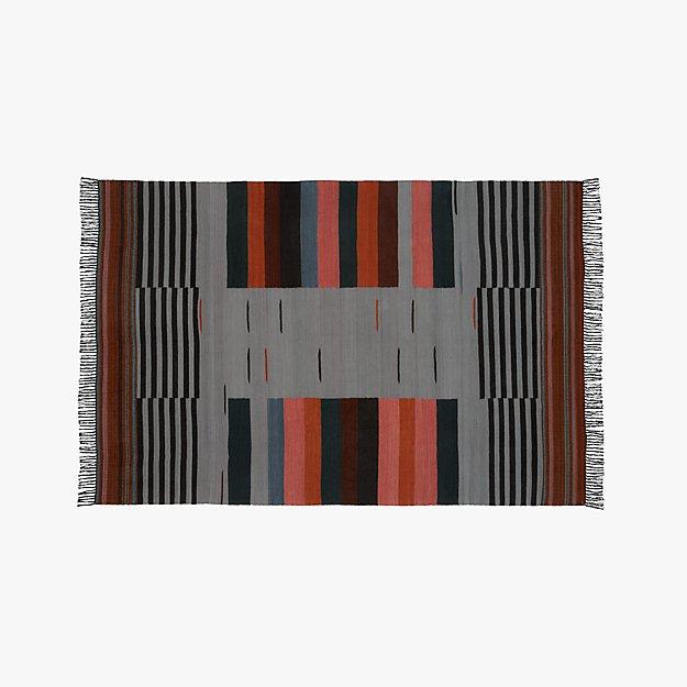 Gradient Grey Wool Rug 6 X9 Reviews Cb2