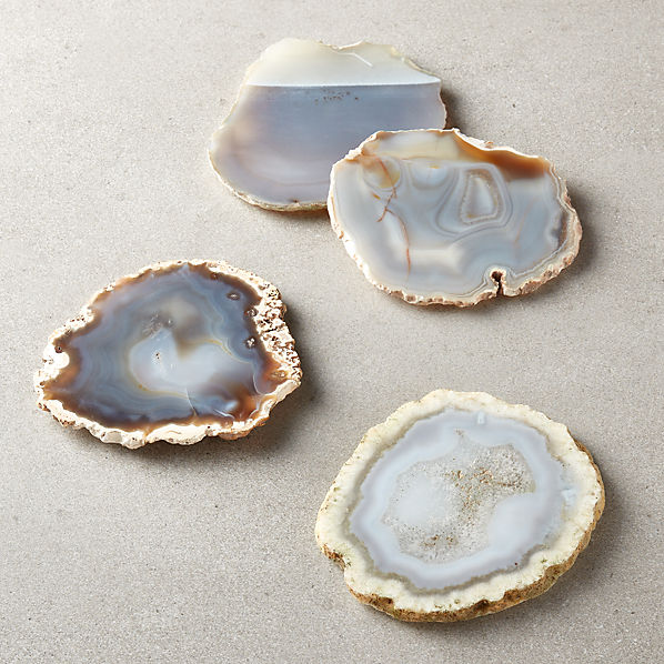 Grey Agate Coasters Set Of 4 Reviews Cb2 Canada