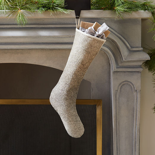 Grey Cowhide Stocking