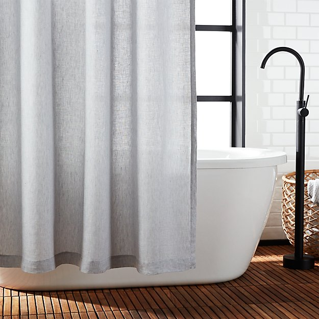 Grey Linen Chambray Shower Curtain Reviews