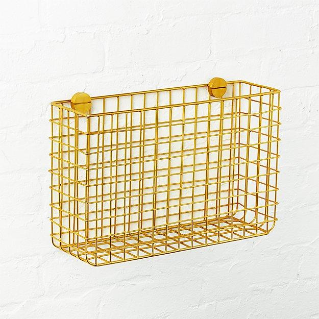 Grid Brass Magazine Rack - Image 1 of 5