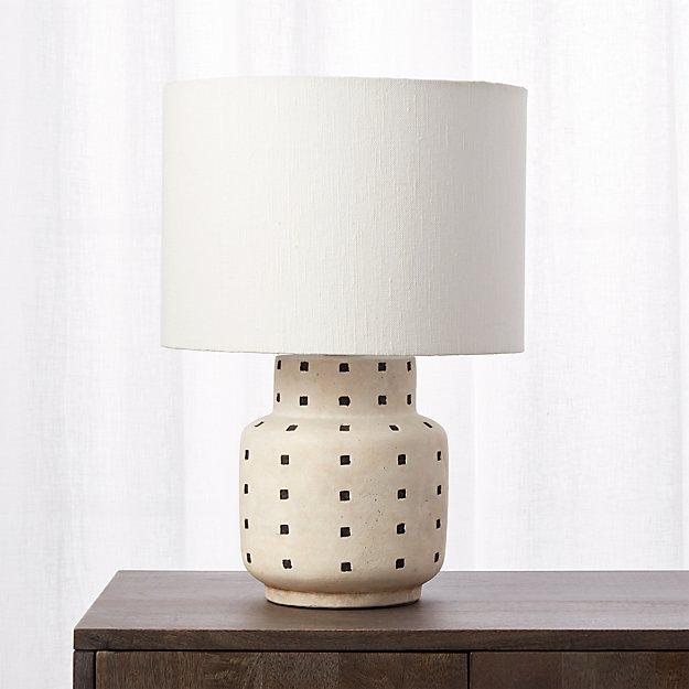 Grid Black And White Polka Dot Table Lamp Reviews Cb2