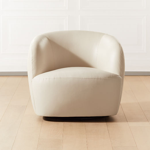 Gwyneth Ivory Leather Chair