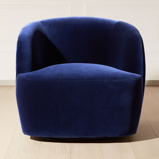 Gwyneth Navy Velvet Chair