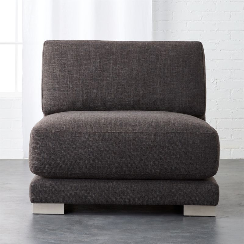 Incroyable Gybson Earth Grey Armless Chair