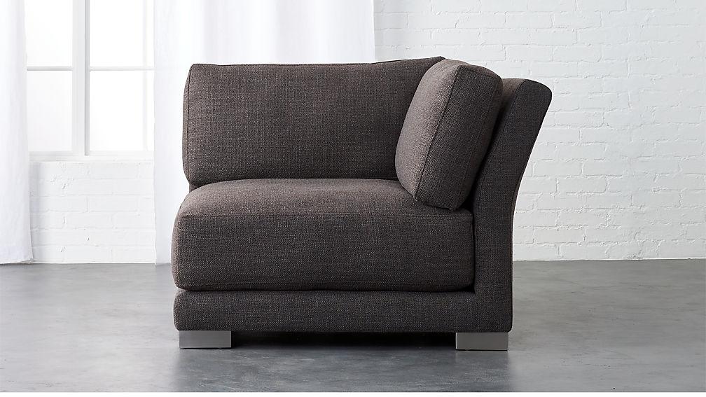 Gybson Earth Grey Corner Chair Reviews Cb2