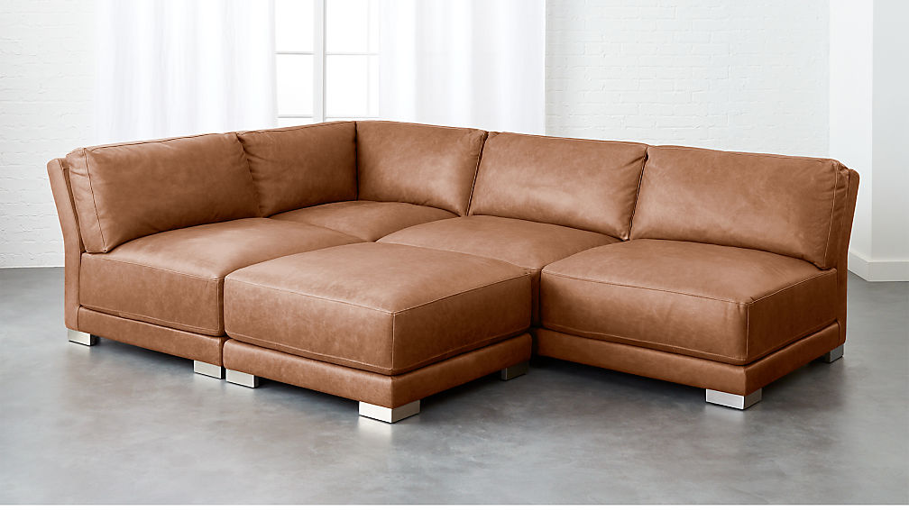 maison sofa left baxton summer aled studio shop shopping set modern leather orland with on chaise facing brown rouge deals sectional