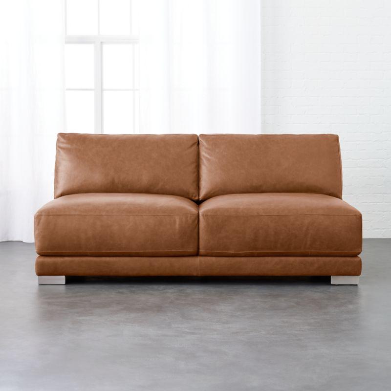 Enjoyable Armless Leather Loveseat Machost Co Dining Chair Design Ideas Machostcouk