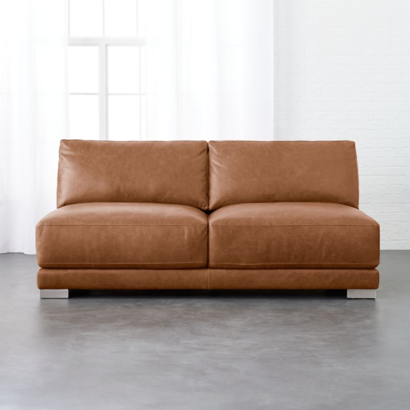 Gybson Cognac Leather Loveseat