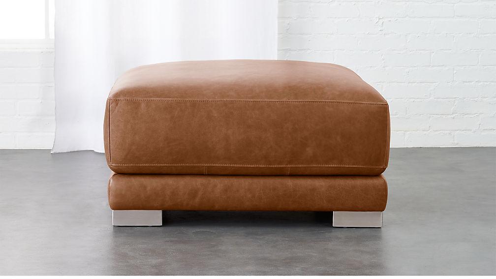Tremendous Cb2 Leather Ottoman Dailytribune Chair Design For Home Dailytribuneorg
