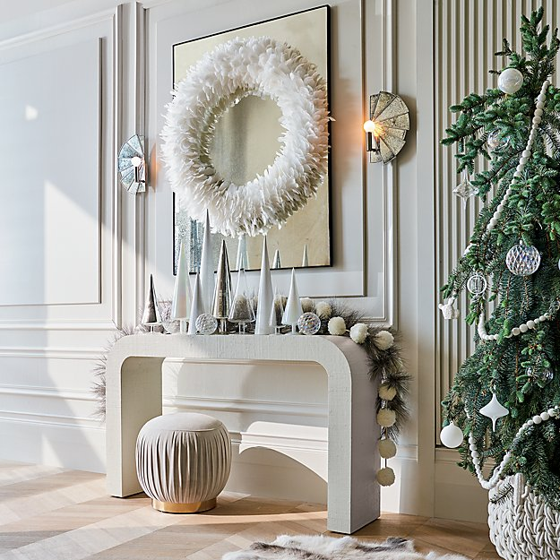 White and Luster Holiday Mantle Set - Image 1 of 10