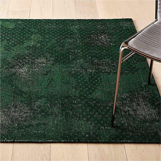 Disintegrated Green Floral Rug - Image 1 of 10