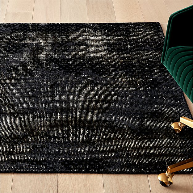 The Hill-Side Disintegrated Floral Grey Rug - Image 1 of 11