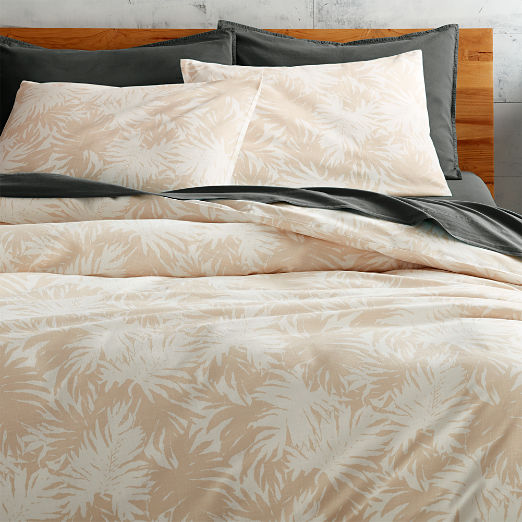 The Hill-Side Palm Leaves Natural King Duvet Cover - SOLD OUT