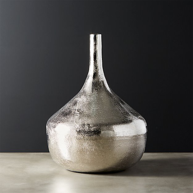 Haley Silver Vase Reviews Cb2