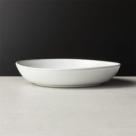 Halley White Low Soup Bowl