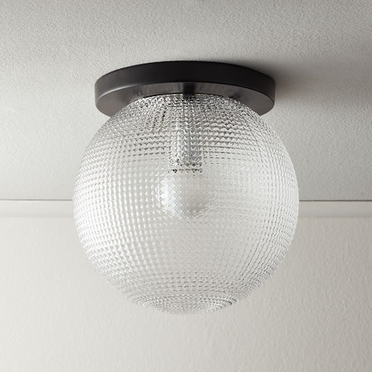 Halo Globe Flush Mount Light