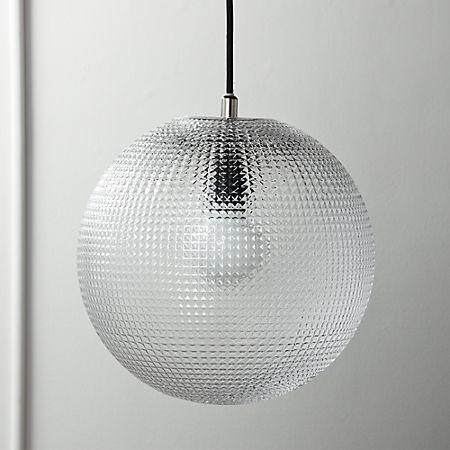 buy popular 4e813 f6cdb Halo Globe Pendant Light + Reviews | CB2