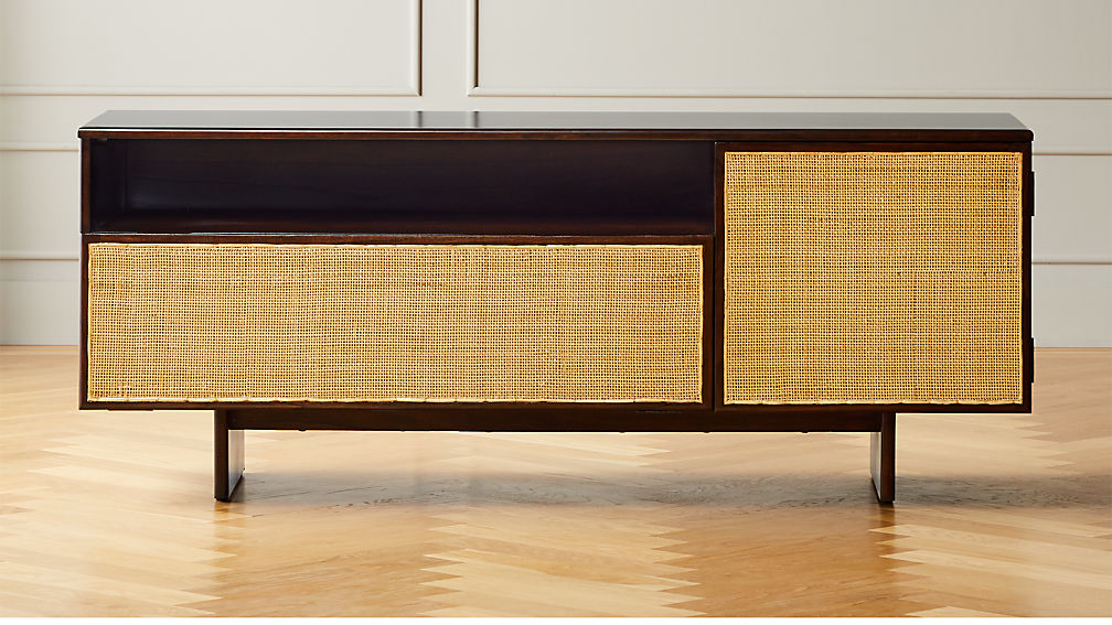 Halsted Cane Media Console - Image 1 of 7